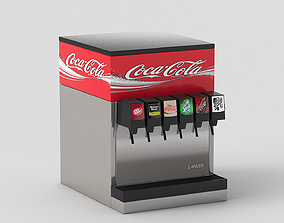 3D model 6-Flavor Counter Electric Soda Fountain System 2