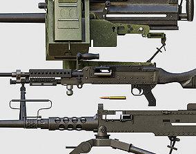 3D model game-ready M2 M240 MK19