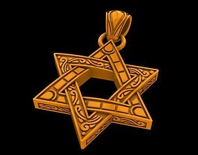 3D print model Star of David with ornament