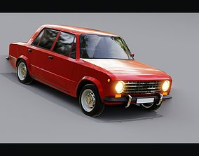 Lada 1200 VAZ 2101 Zhiguli LOW-POLY 3d model VR / AR ready