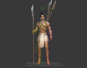 3D asset Hunter primitive soldier tribe