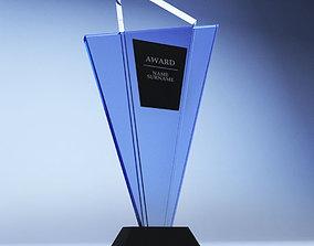 sport Trophy award cup low poly 3D model