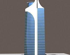 3D Tall Modern Glass Building 135