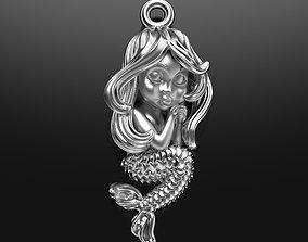 3D print model Sleeping little mermaid pendant