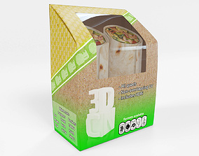 Food wrap box snack 3D