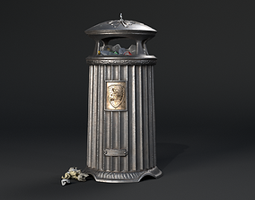 Vintage London Street Trash Can 3D