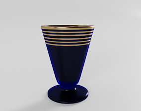 3D 1920s Art Deco Pedestal Glass