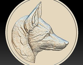 Fox Head Coin - relief - 2020 3D print model