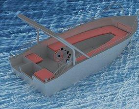 Aluminium boat 3D model