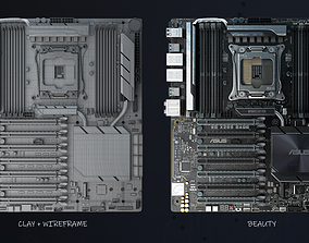 Motherboard asus - WS x299 SAGE 3D model