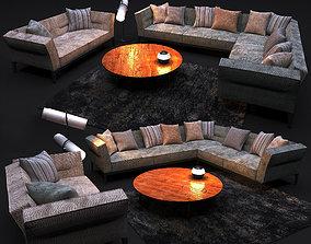 Sofa in modern style FLEXFORM ADDA 3D