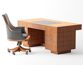 3D model Executive chair By Morelato - 900 Style Wooden