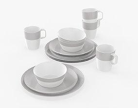 Dinnerware 16-piece set 3D