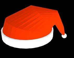 3D asset Low poly Christmas hat