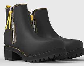 3D Black and Yellow boots for woman