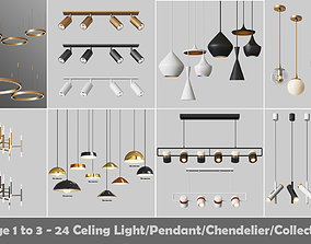 24 Light Fixture Collection 3D model