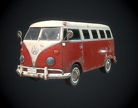 Classic VW Bus for Games 3D asset low-poly