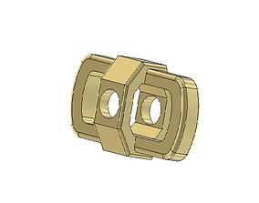 hexagonal chain link 3D printable model bracelet
