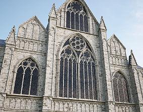 3D model Gothic facade