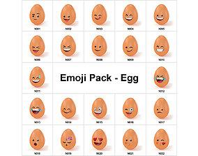Emoji Pack - Eggs - 22 Models realtime