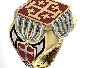3D printable model Templar ring