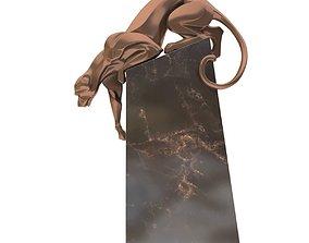 3D Sculpture coguar art deco