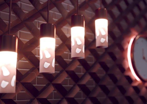 Interior lighting 3d