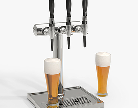 alcohol 3D model Beer Tower