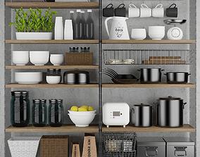 Kitchen set 3D model basket
