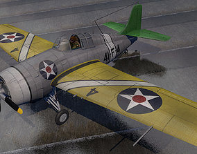 Grumman F4F-3 Wildcat 3D