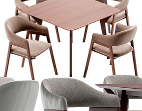 3D Angel Cerda Chair and Terong Table