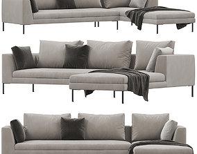 3D Alberta Luna sofa