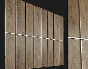 Wooden wall panel 77 3D model