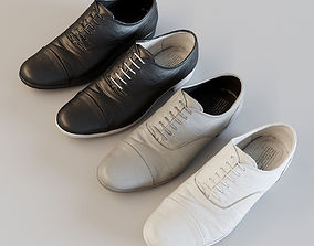 3D asset Straight tip leather shoes