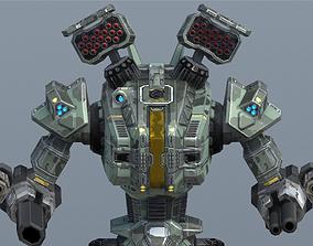Havoc BattleMech 3D asset animated