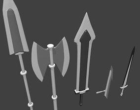 3D model Set Weapon