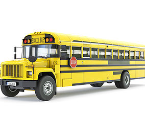 3D asset realtime School Bus