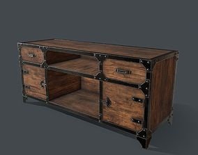 3D asset Industrial Style Media Console for PBR 2