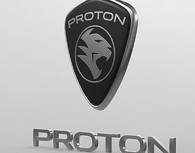 3D proton logo