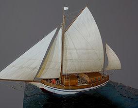 Sailing vessel - Spray 3D asset