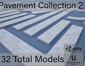 Lowpoly Modular PBR Pavements 2 3D model