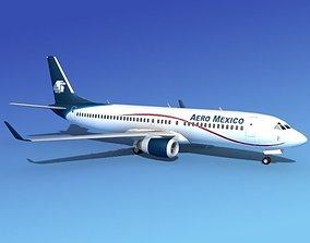 Boeing 737-800 Aero Mexico 3D