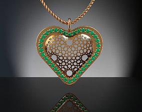 Heart 3D print model jewelry