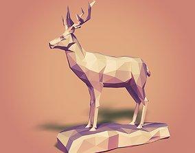 3D asset Cartoon Deer LowPoly