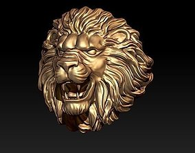 obj lion ring 3D print model