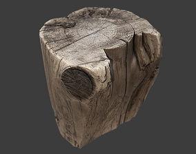 3D model VR / AR ready Stump
