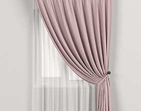 3D Pink curtains in the background with tulle