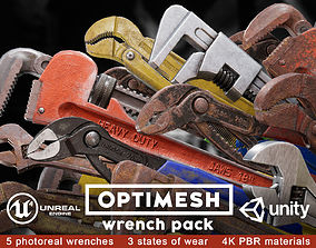 Wrench 3D PBR model pack realtime weapon