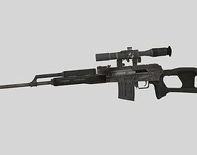 3D model SVD Dragunov