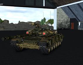 3D asset rigged T-90 Russian main battle tank